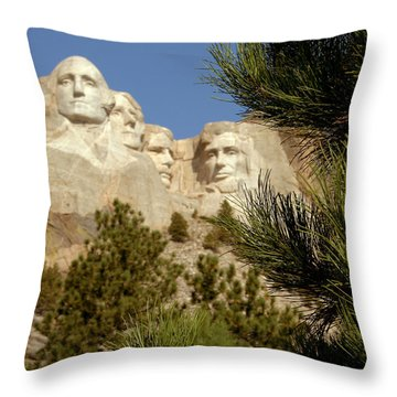 Rushmore Pine Needles Throw Pillow by Mike Oistad