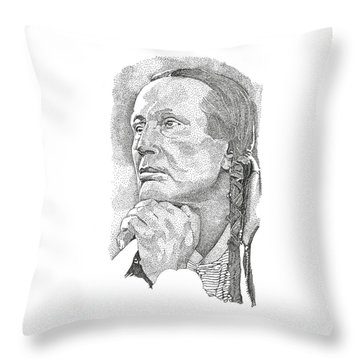 Russell Means Throw Pillow