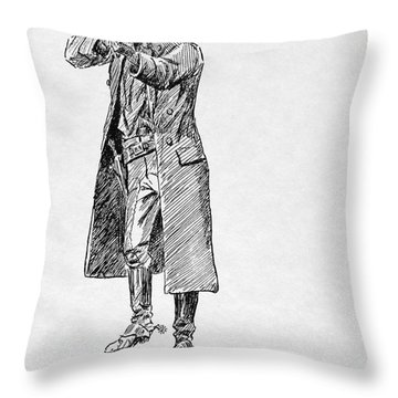 Russell: Stage Robber Throw Pillow by Granger