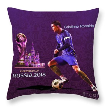 Russia 2018 Football World Cup  Throw Pillow