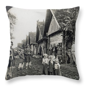 Russia: Peasants Throw Pillow by Granger