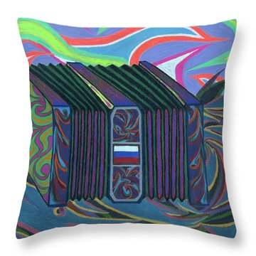 Russian Accordian Throw Pillow by Robert SORENSEN