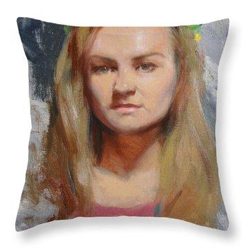 Flower Head Throw Pillows