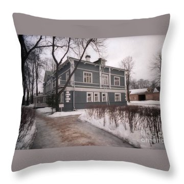 Russian Home January 89 Throw Pillow by Ted Pollard