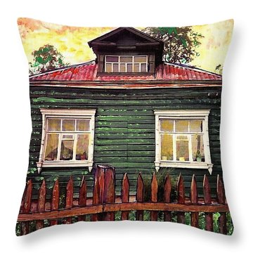 Russian House 2 Throw Pillow by Sarah Loft