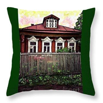 Russian House Throw Pillow by Sarah Loft