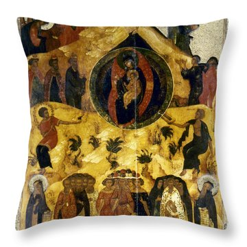 Russian Icon Throw Pillow by Granger