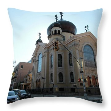Russian Orthodox Cathedral Of The Transfiguration Of Our Lord Throw Pillow