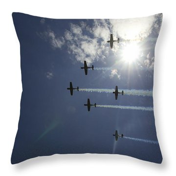 Throw Pillow featuring the photograph Russian Roolettes And Sydney Sun by Miroslava Jurcik
