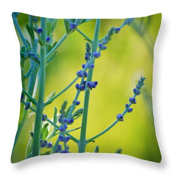 Russian Sage Throw Pillow