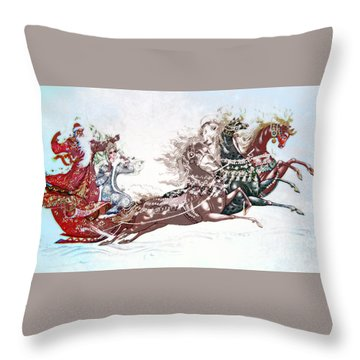 Russian Symbols Of New Year Throw Pillow