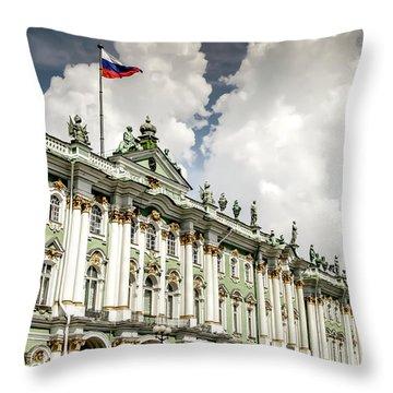 Russian Winter Palace Throw Pillow
