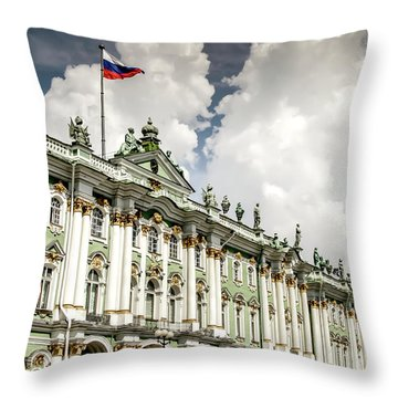 Russian Winter Palace Throw Pillow