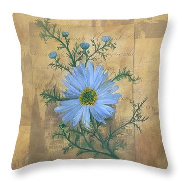 Russias Chamomile Throw Pillow by Carrie Jackson