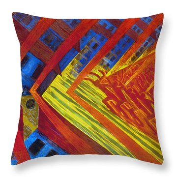 Russolo: Revolution, 1911 Throw Pillow by Granger