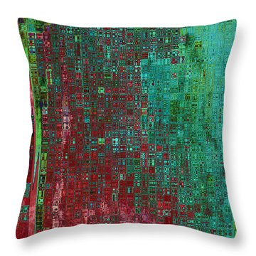 Rust Abstract Throw Pillow by Carol Groenen