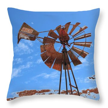 Rust Age Throw Pillow