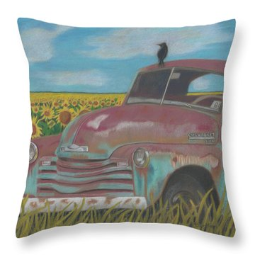 Rust And Gold Throw Pillow by Arlene Crafton