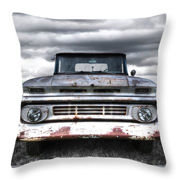 Rust And Proud - 62 Chevy Fleetside Throw Pillow