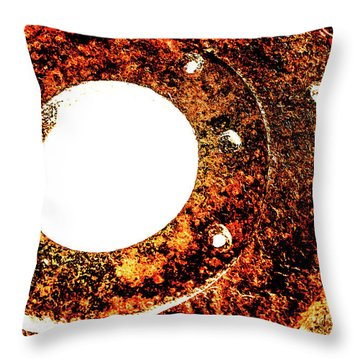 Rust In Infrared Throw Pillow by Onyonet  Photo Studios