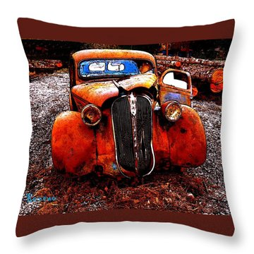 Rust In Peace Throw Pillow by Sadie Reneau