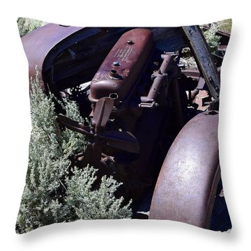 Rust In The Dust Throw Pillow