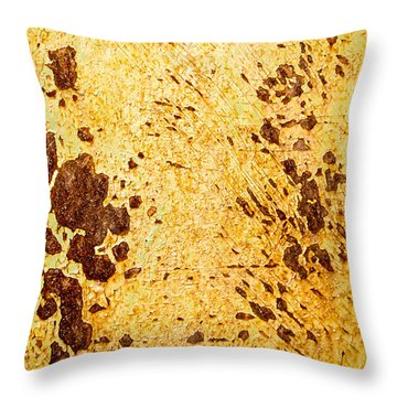 Rust Metal Throw Pillow