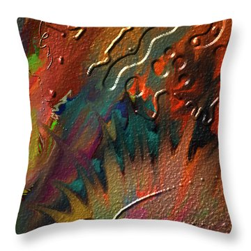 Throw Pillow featuring the painting Rust Never Sleeps by Kevin Caudill