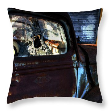 Rust On Blue Throw Pillow