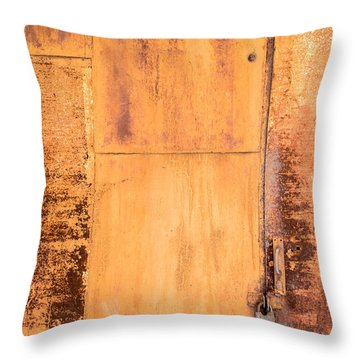 Throw Pillow featuring the photograph Rust On Metal Texture by John Williams