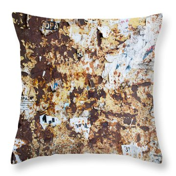 Throw Pillow featuring the photograph Rust Paper Texture by John Williams