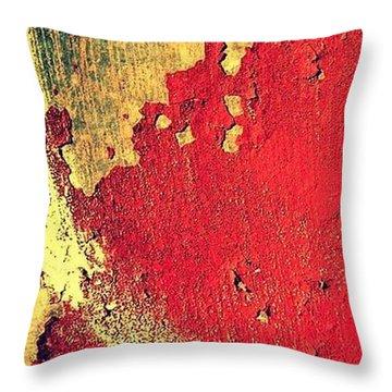 Rust Throw Pillow by Paulo Guimaraes
