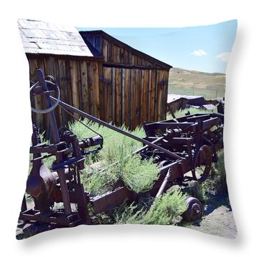 Rust Sleeps Throw Pillow
