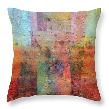 Throw Pillow featuring the painting Rust Study 1.0 by Michelle Calkins