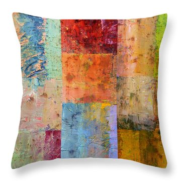 Throw Pillow featuring the painting Rust Study 2.0 by Michelle Calkins