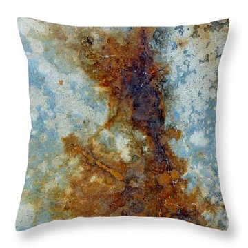 Rusted Abstraction 2 Throw Pillow