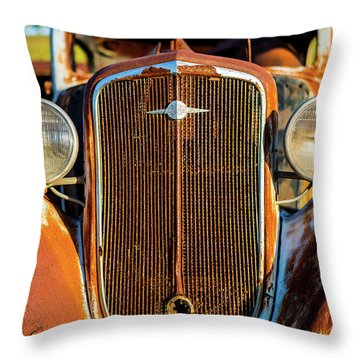 Rusted Chevrolet Throw Pillow