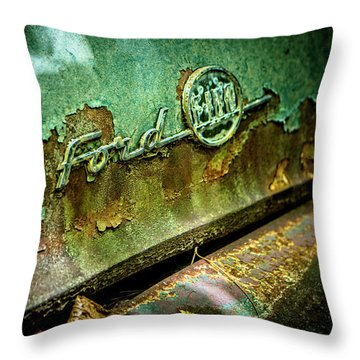 Rusted Ford Throw Pillow