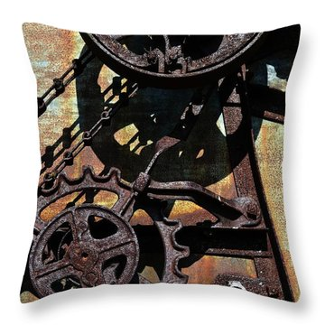 Rusted Gears 2.0 Throw Pillow