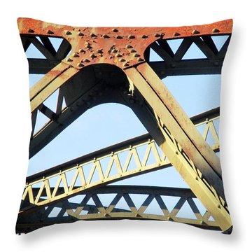 Rusted Throw Pillow by Martin Cline