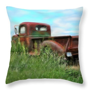 Rusted Not Retired Throw Pillow