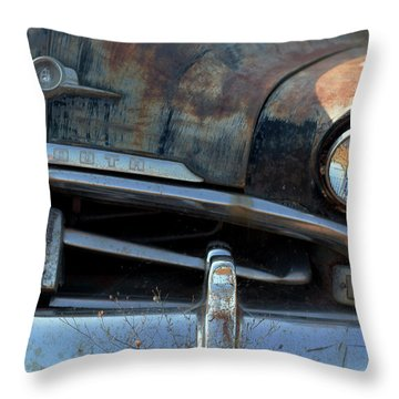 Rusted Out Plymouth Throw Pillow by Heidi Hermes