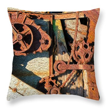 Rusted Reaction Throw Pillow
