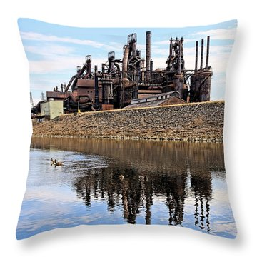 Rusted Relection Throw Pillow