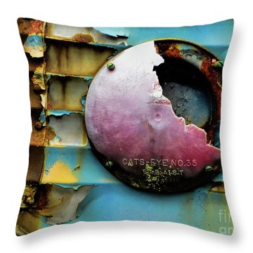 Rusted Series 3 Throw Pillow by Laura Atkinson
