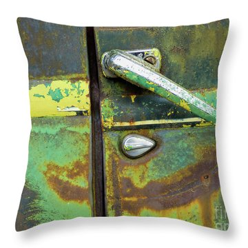 Rusted Series 4 Throw Pillow by Laura Atkinson