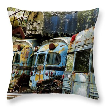 Rusted Series Throw Pillow by Laura Atkinson