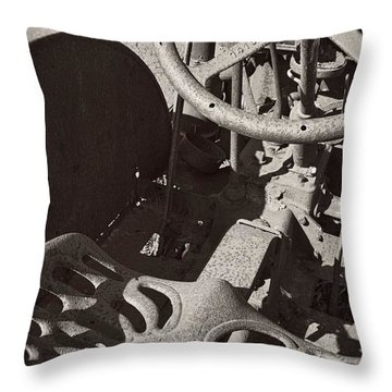 Throw Pillow featuring the photograph Rusted Tractor by Michelle Calkins