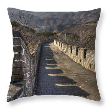 Rusti  Great Wall Hdr Throw Pillow by Matthew Bamberg