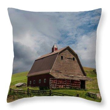 Rustic Barn Palouse Washington Throw Pillow by James Hammond